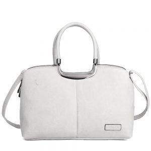 damen Henkeltasche Johanna, Leder Vegan, Crossbody Bag, Crossbody, Messenger Bag, Grau, BS-Material
