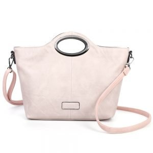 damen henkeltasche Sophie, Leder Vegan, Crossbody Bag, Crossbody, Messenger Bag, Rose, SR-Material