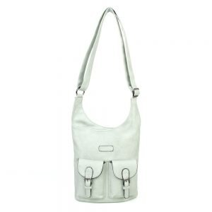 damen umhängetasche Mia, Leder Vegan, Crossbody Bag, Crossbody, Messenger Bag, Türkis, SR-Material