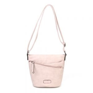 damen umhängetasche Ida, Leder Vegan, Crossbody Bag, Crossbody, Messenger Bag, Rose, SR-Material