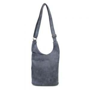 damen umhängetasche Clara, Leder Vegan, Crossbody Bag, Crossbody, Messenger Bag, Blau, B-Material