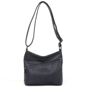 damen umhängetasche Leonie, Leder Vegan, Crossbody Bag, Crossbody, Messenger Bag, Blau, BS-Material