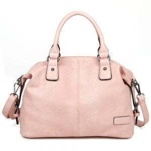 damen Schultertasche Isabella, Leder Vegan, Crossbody Bag, Crossbody, Messenger Bag, Shopper Rose, B-Material